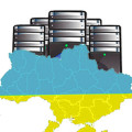 Cloud server. Vector illustration of cloud computing concept with servers in the cloud