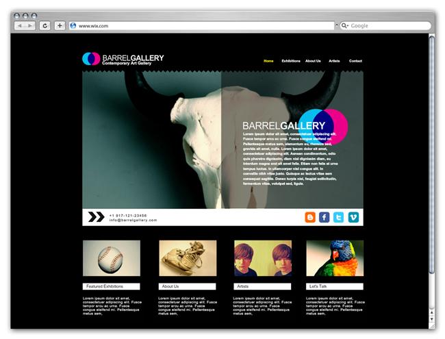 my gallery Конструктор сайтов Wix: обзор