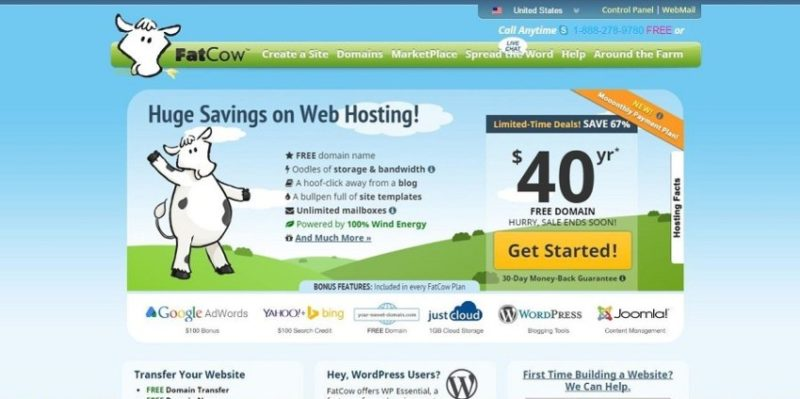 fatcow e1444653006675 800x399 10 лучших сайтов в мире, где можно купить хостинг и домен