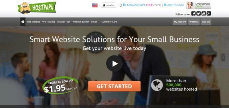 hostpapa e1444652909374 800x379 10 лучших сайтов в мире, где можно купить хостинг и домен