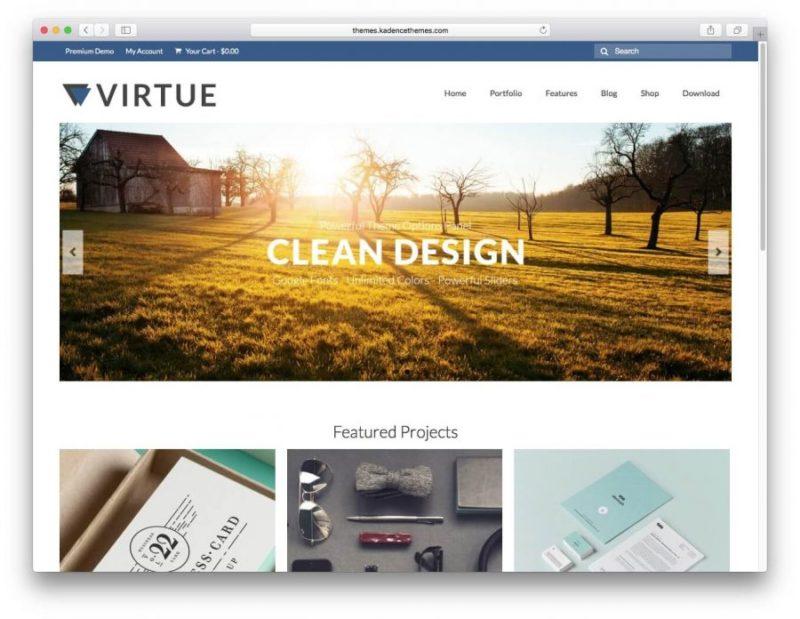 virtue e1503089030109 800x619 Хостинг Вордпресс: лучшие темы 2017